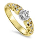 0.47ct Diamond Handmade Ring in 18ct Yellow Gold