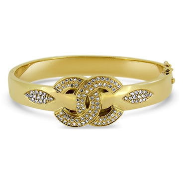 9ct Gold 106 Stone Diamond Bangle