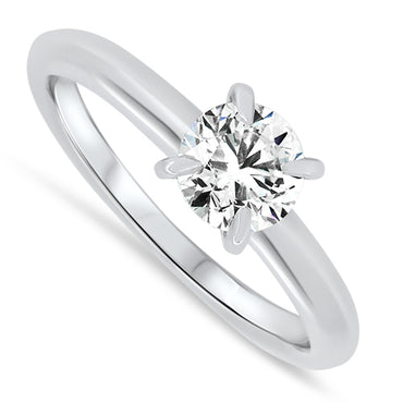 0.70ct Diamond Solitaire Ring Set in 18ct White Gold