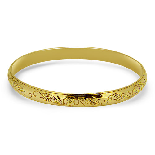 9ct Gold Round Patterned Ladies Bracelet
