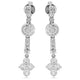 1.00ct Diamond Drop Dress Earrings in 18k White Gold