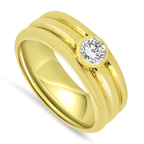 0.60ct Single Stone Diamond Ring Set in 18ct Gold