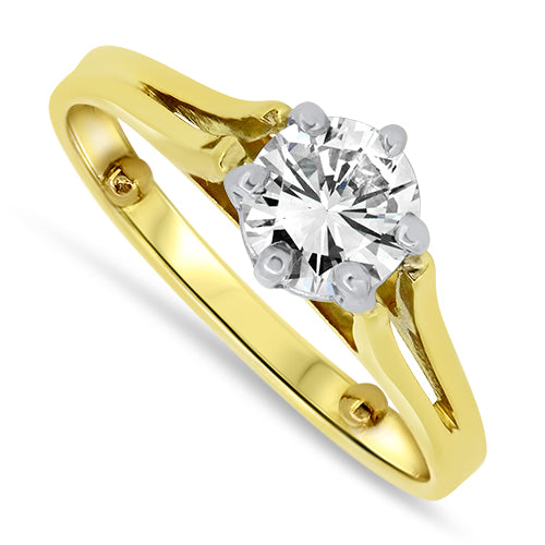 0.75ct Diamond Solitaire Ring Set in 18ct Yellow Gold