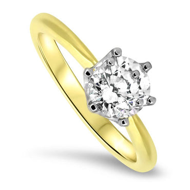 1.02ct Diamond Engagement Style Ring 18ct Yellow Gold