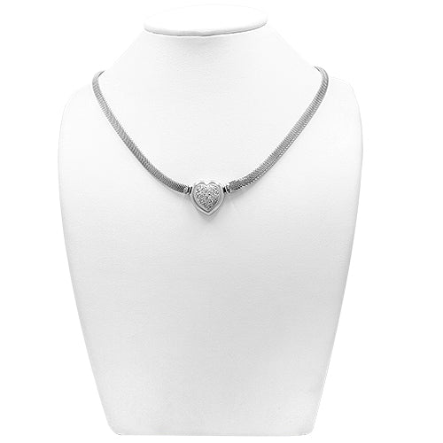 0.30ct Diamond Heart Shaped Necklace in 18k White Gold