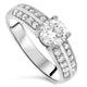 1.40ct Diamond Engagement Handmade Ring with a 1ct Diamond F VS1