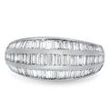 2.10cts Diamond Cluster Ring with Baguette Diamond G/H VS set in 18ct White Gold