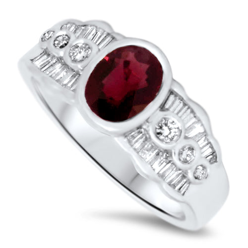 1.63ct Spinel & Diamond Ring in 18ct White Gold