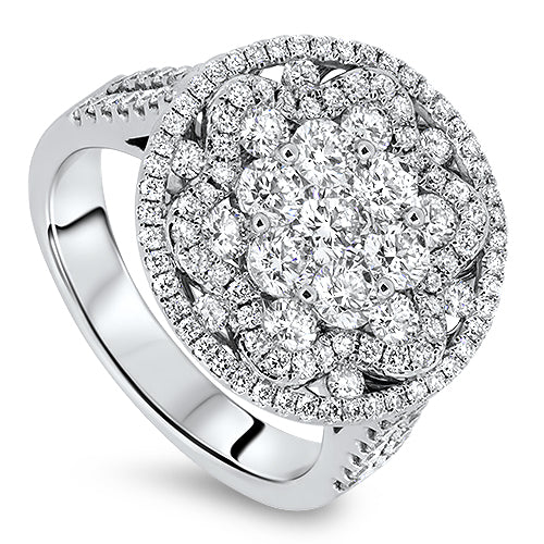 1.98cts Diamond Cluster Ring with G VS Diamonds