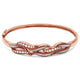 14ct Rose Gold Diamond & Mother of Pearl Bangle