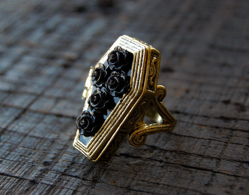 Poison Floral Coffin Ring