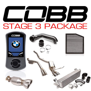 COBB TUNING BMW N55 STAGE 3 3-SERIES POWER PACKAGE W/V3 - KW Dealer