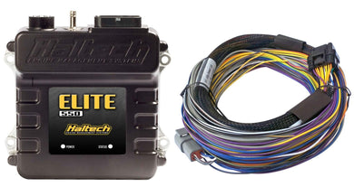 HALTECH ELITE 550 ECU + 2.5M (8 FT) BASIC UNIVERSAL WIRE-IN HARNESS KIT - KW Dealer