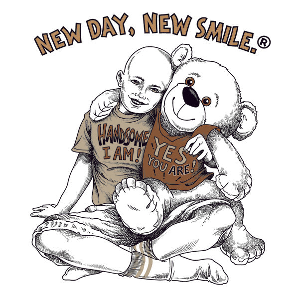 New Day New Smile Boys, Girls, Children's Inspirational Cancer T-Shirt available at NewDayNewSmile.com