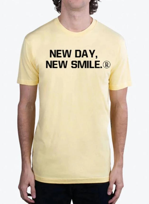 New Day New Smile Men's BANANA CREAM Tee available at NewDayNewSmile.com