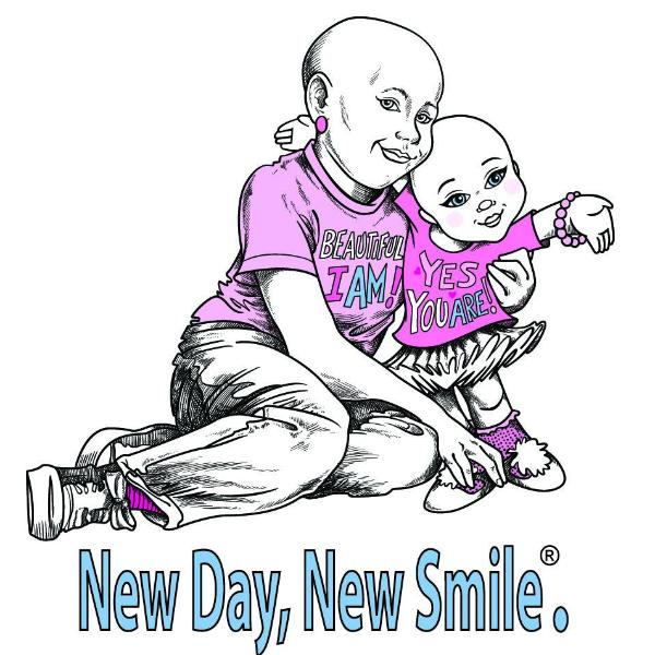 New Day New Smile Girls, Boys, Children's Inspirational Cancer T-Shirt available at NewDayNewSmile.com
