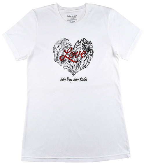 New Day New Smile Love Of Butterflies Women's Tee available NewDayNewSmile.com