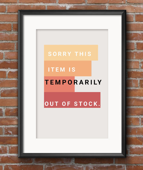 sorry this item is temporarily out of stock