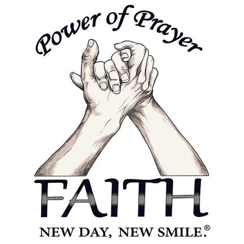 New Day New Smile Power Of Prayer - Faith Inspirational Men's T-Shirt available at NewDayNewSmile.com