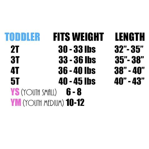 toddler's size chart