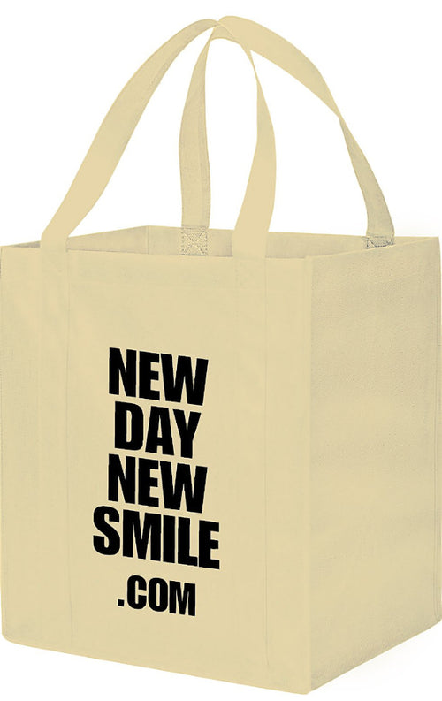 NewDayNewSmile.com Grocery Tote Bag (limited edition)