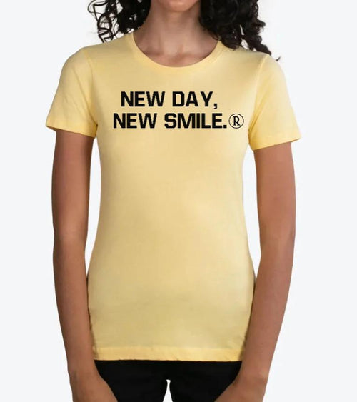 New Day New Smile Women's BANANA CREAM Tee available at NewDayNewSmile.com