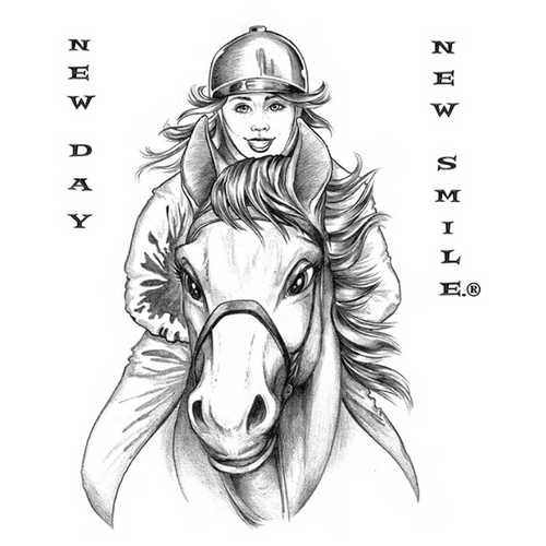 New Day New Smile Girl Horseback Riding Tee available at NewDayNewSmile.com
