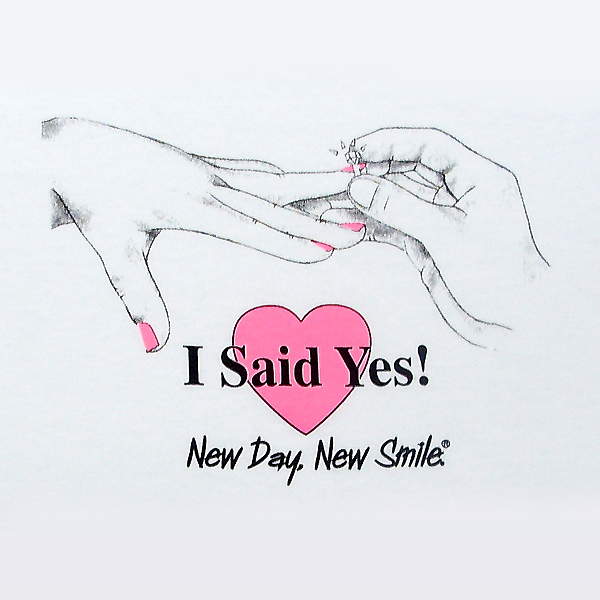 "New Day New Smile ""I Said Yes"" Engagement or Honeymoon Women's Tee available at NewDayNewSmile.com"