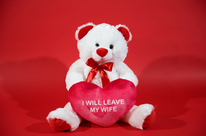 I Will Leave My Wife Valentine's Bear