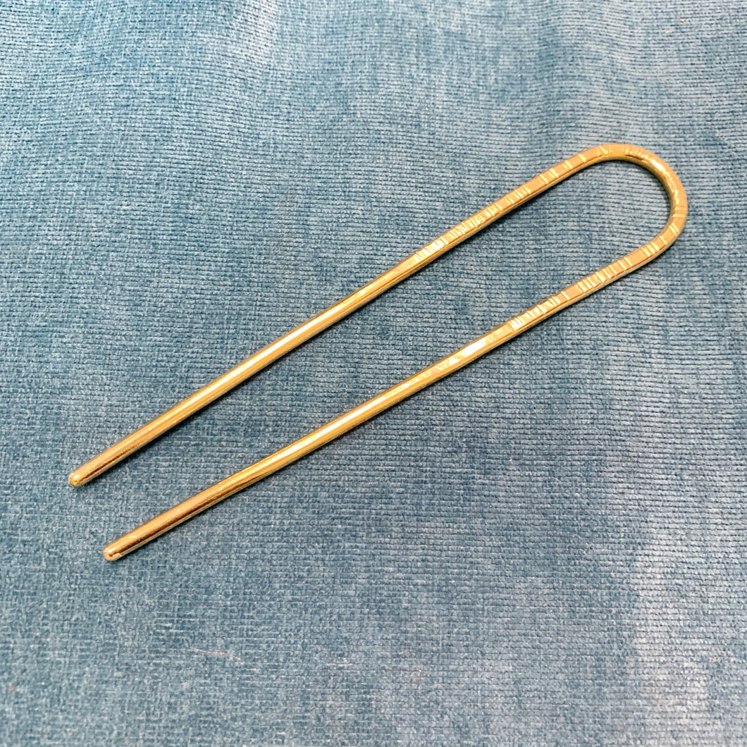Hair Pick Brass Arch Round Large