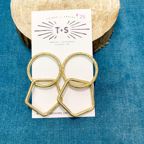 Aurelia Double Hoop Earrings Stud