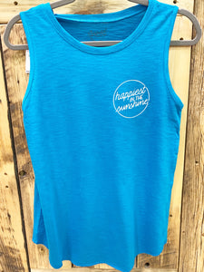 Happiest in the Sunshine Blue Tank Top