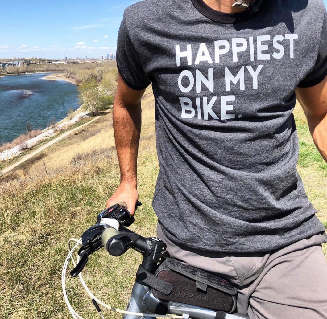 Happiest on my Bike Mens Tshirt