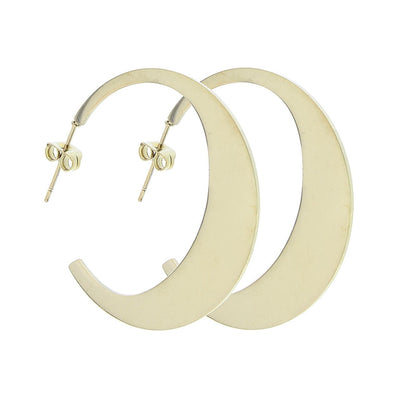 Le Carose earrings Moon gold or silver plated handmade in Italy
