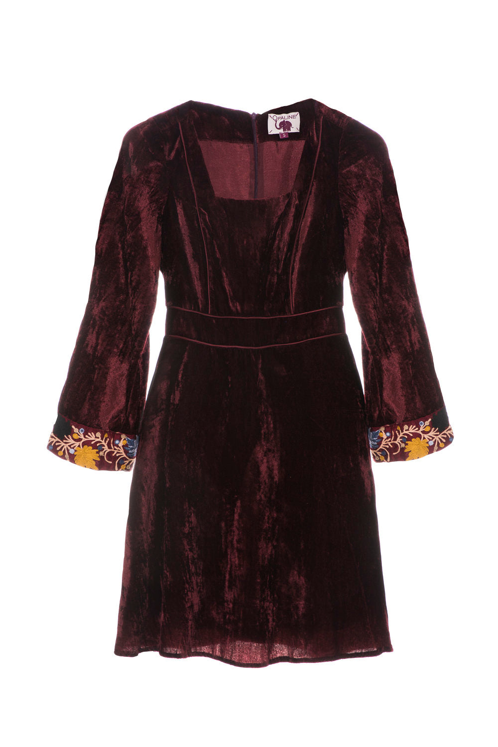 Velvet bordeaux dress