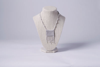 FABRIC NECKLACE, FRINGE