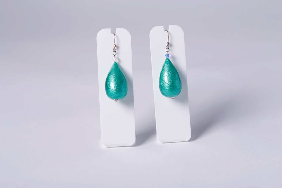 CORINNA EARRINGS, TEAL