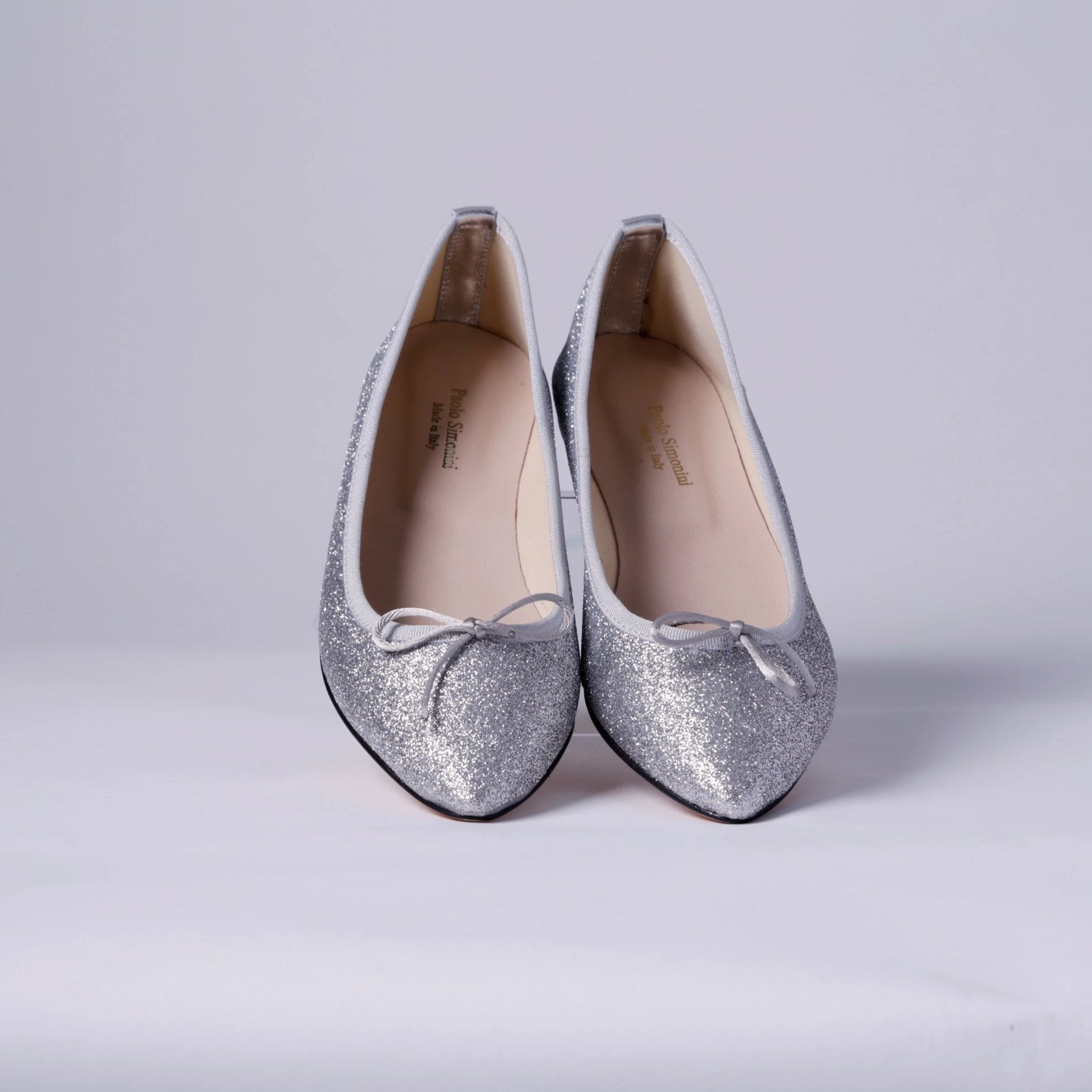 Ballerina leather Turandot silver