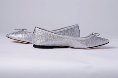 Shoes Ballerina leather Turandot silver
