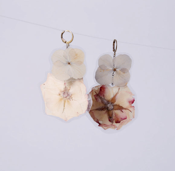 GLORIA EARRINGS, White