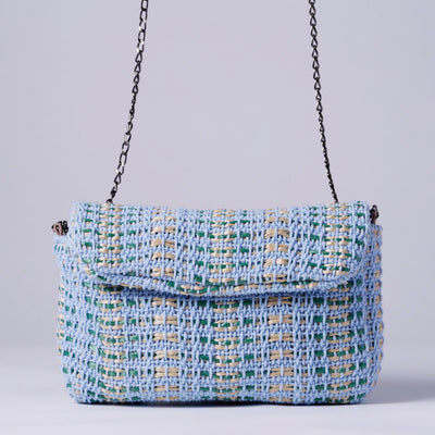 BAG MARIA LA ROSA, CROSSBODY BAG, BLUE