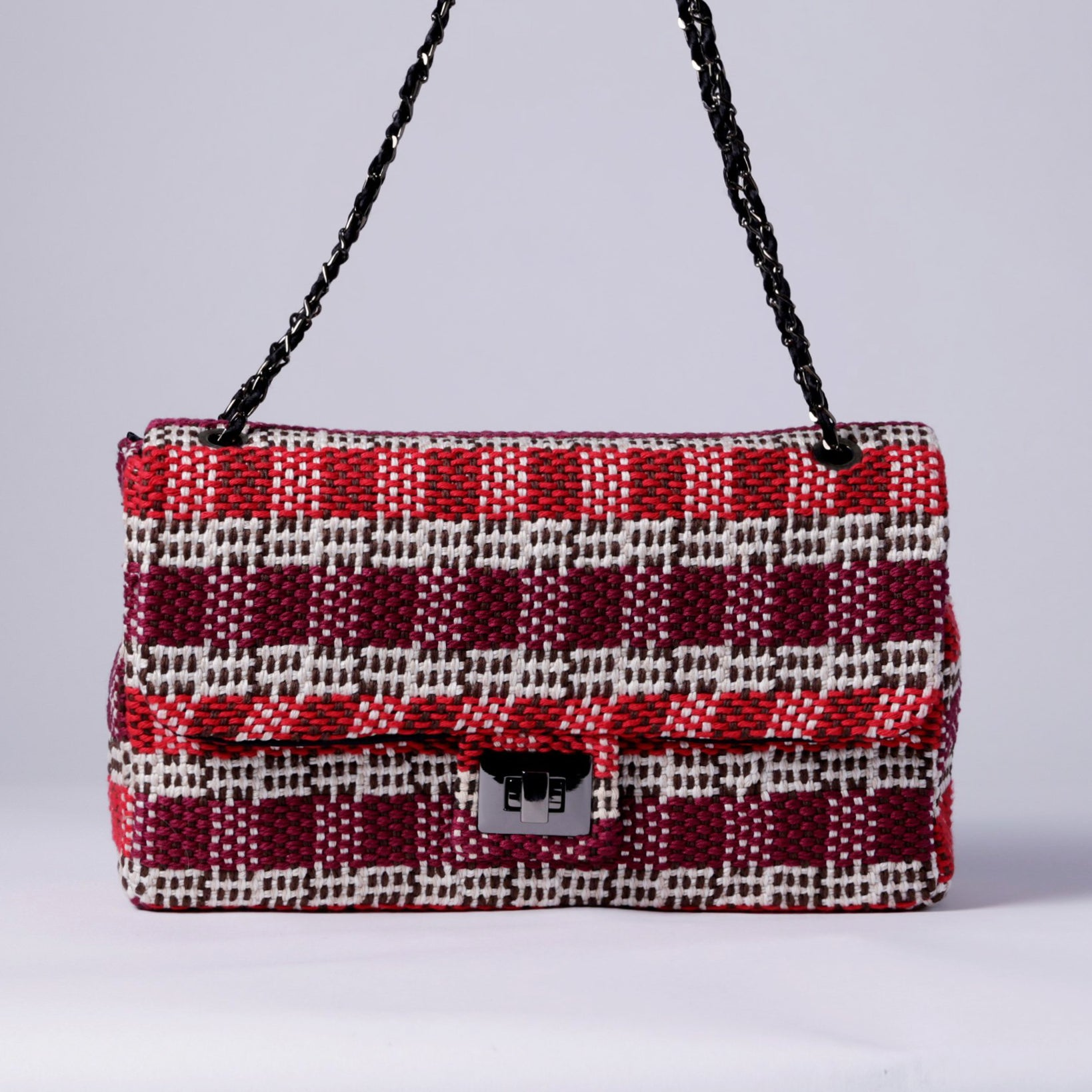 MARIA LA ROSA, HANDBAG, STRIPES