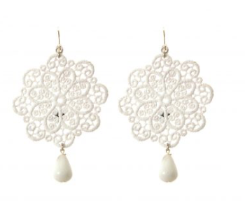 Earrings lace Flower Tita