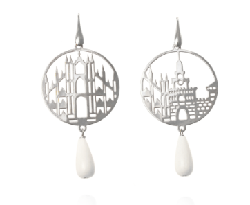 Earrings circle silver Milan Tita