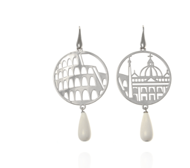 Earrings circle silver Roma Tita
