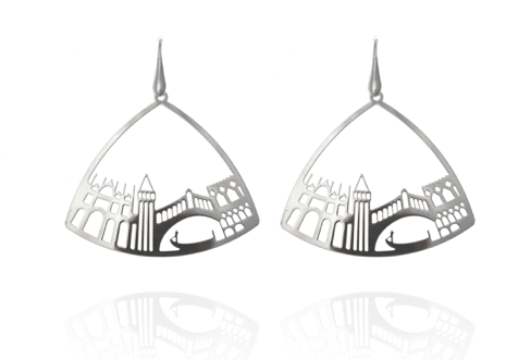 Earrings Triangle silver Venice Tita