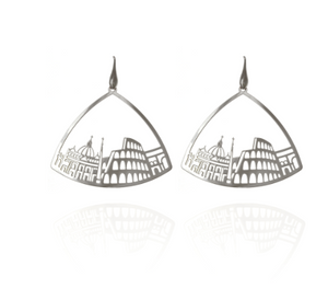 Earrings triangle silver Rome Tita