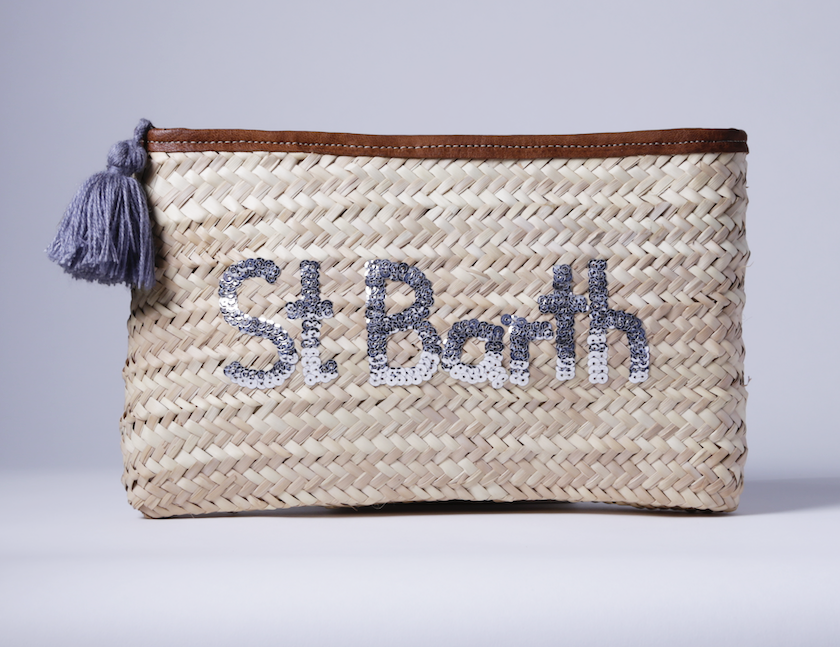 "Straw Clutch ""St Barth"""