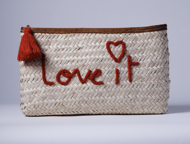 "Straw Clutch ""Love it"""