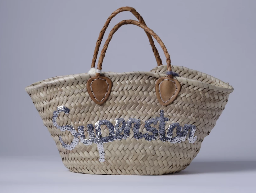 "Straw bag ""Superstar"""